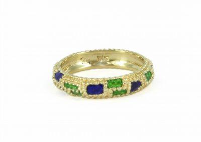 18kt Yellow Gold Cartier Enamel Ring