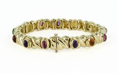 18kt Yellow Gold Semi Precious Bracelet