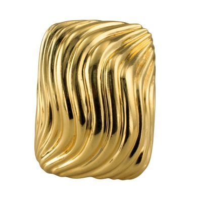 A Chunky Fluted Gold Ring