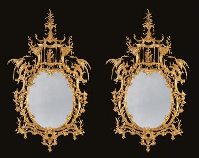 An Important Pair of Pier Glasses in the Chinese Chippendale