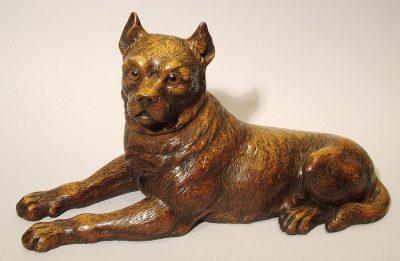 A Black Forest Figure of an American Bulldog