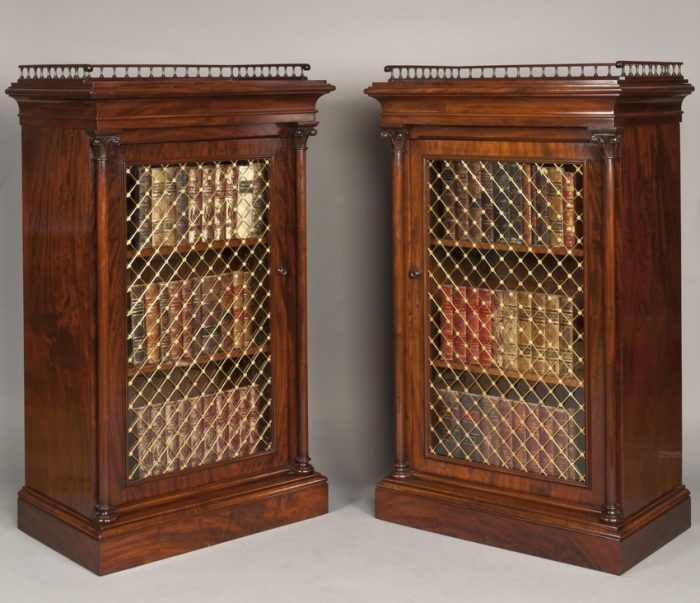 A Very Fine Pair of Library Cabinets of the late Georgian Period
