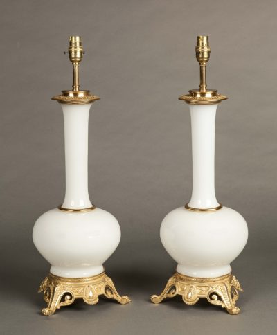 An Attractive Pair of French Table Lamps