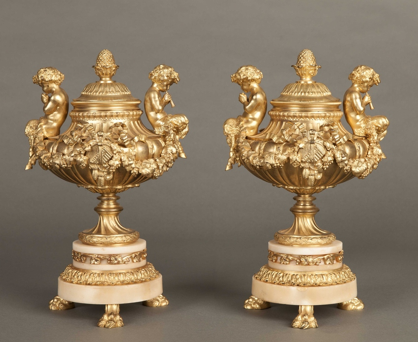 A Pair of Cassolettes in the Louis XVI Taste