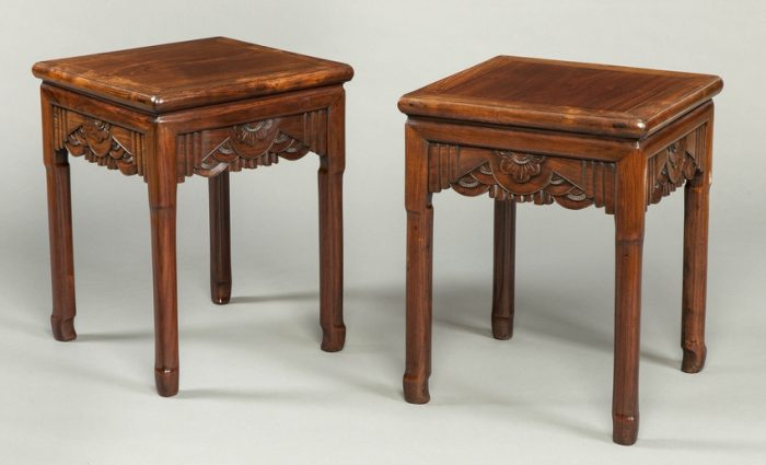 A Pair of Antique Chinese End Tables