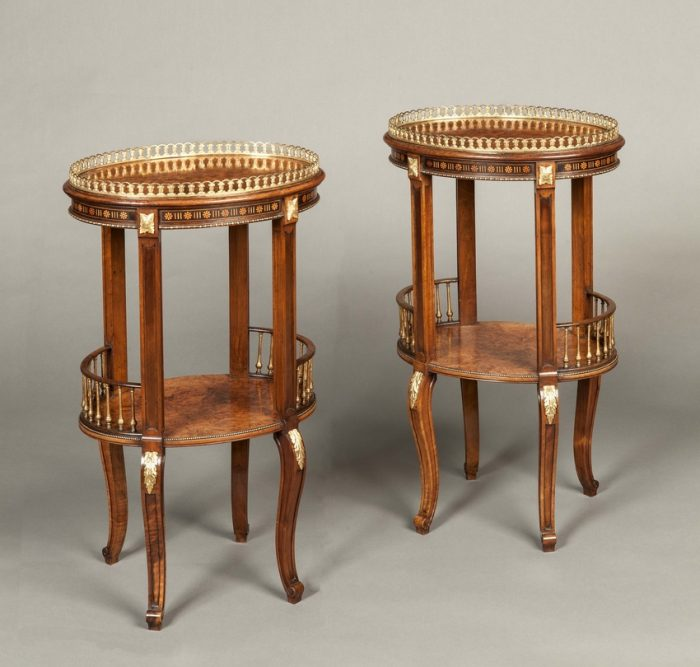 A Good Pair of Antique Lamp Tables