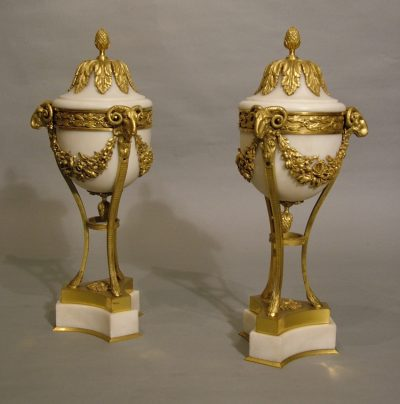 A Fine Pair of Cassolettes  In the Louis XVIth Manner