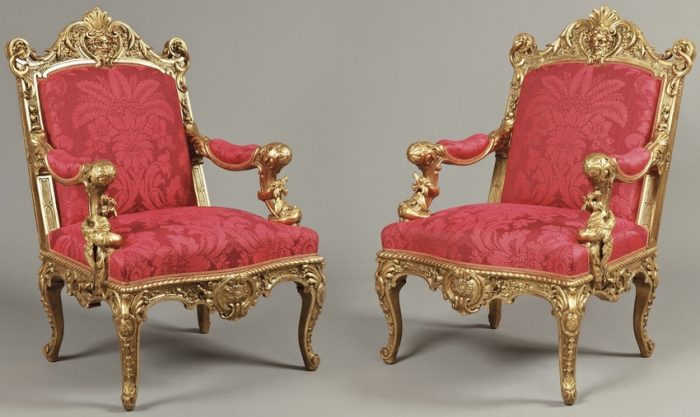 A Magnificent Pair of Armchairs by Alexandre-Georges Fourdinois