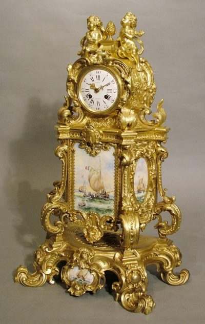 An Impressive French Mantle Clock by LeCat of Paris
