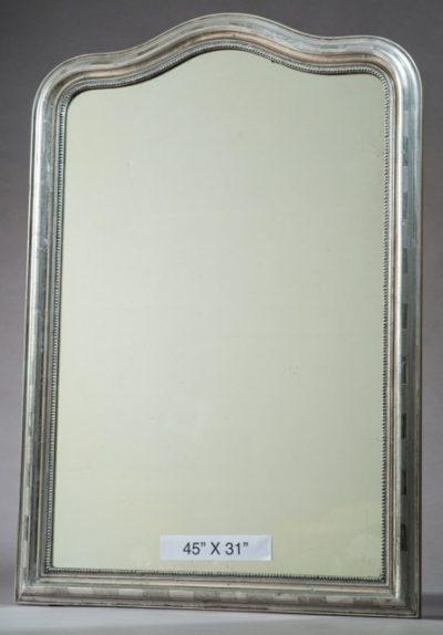Louis Phillippe Silver Gilt Mirror