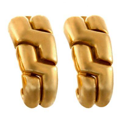 BULGARI 1980s Gold Earrings