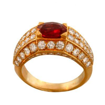 CARTIER Ruby Diamond Ring
