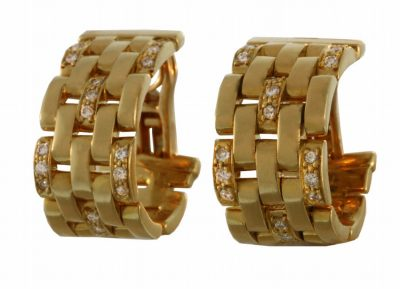 Cartier Classic Panthere Link Earrings
