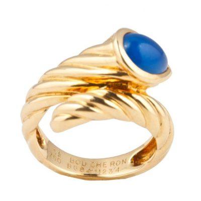 Boucheron Chalcedony Gold Ring