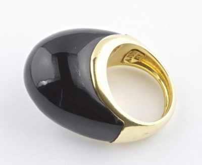 Onyx and Gold Ring by A. Clunn