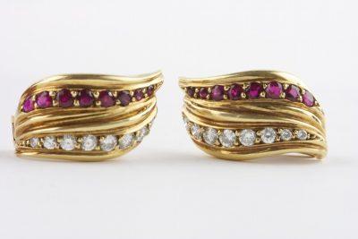 Chaumet Ruby and Diamond Earrings