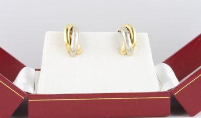 Cartier Tri Color Earrings