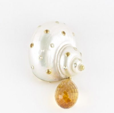 Seaman Scheppes Sea Shell Brooch