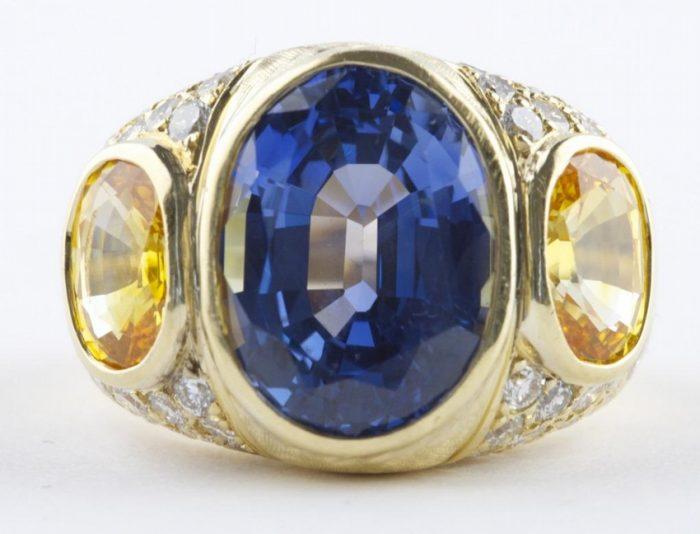 13 Carat Natural Sapphire Ring