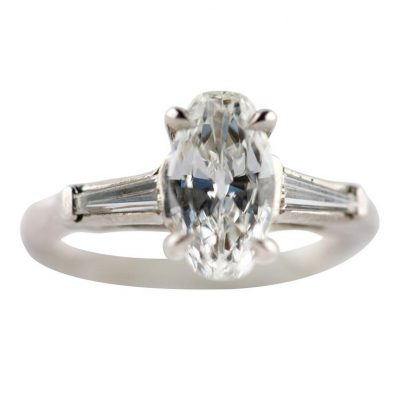 Charming Old Cut Diamond Engagement Ring