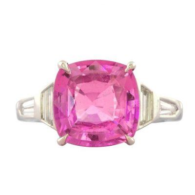 Rare Hot Pink Sapphire Ring