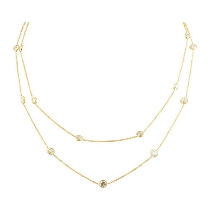 Old Euro Diamond Gold Chain
