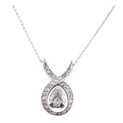 Art Deco Pear Shaped Diamond Necklace