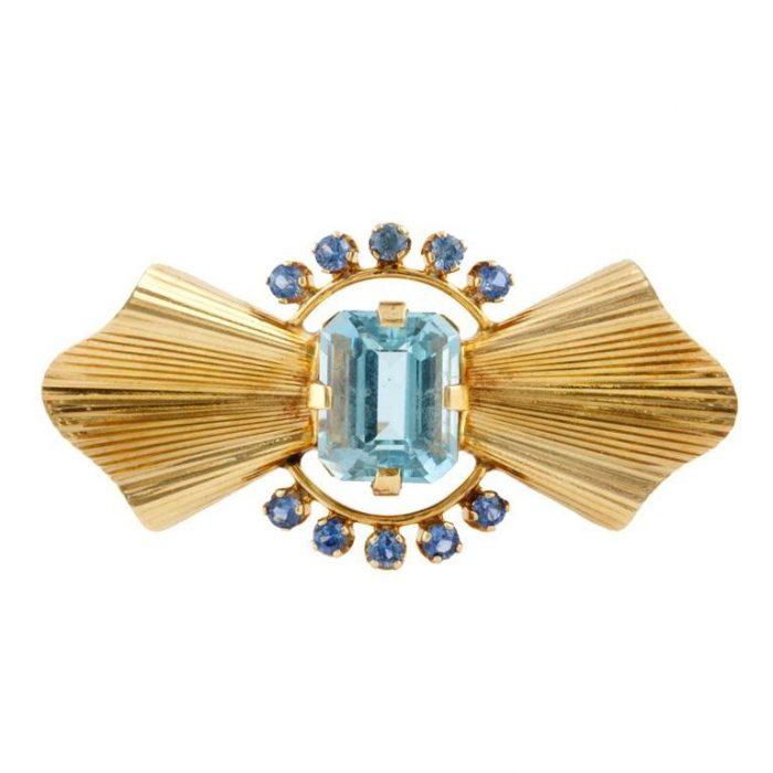 Tiffany & Co. Aquamarine Brooch