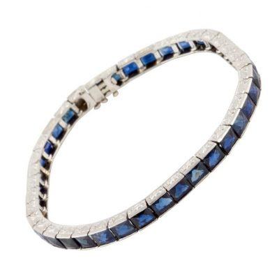Platinum and Sapphire Bracelet
