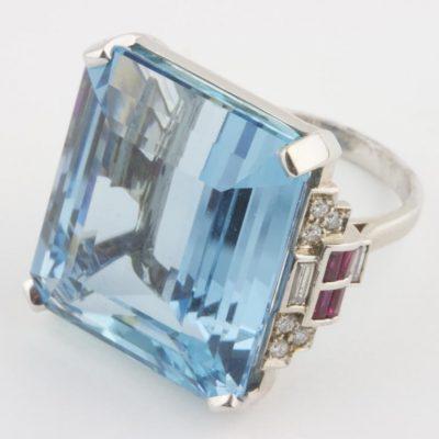 35.98 Carat Aquamarine Ring