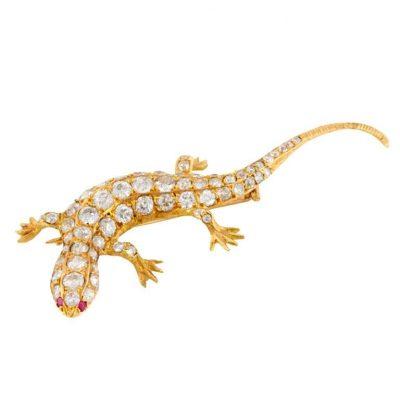French Lizard Brooch