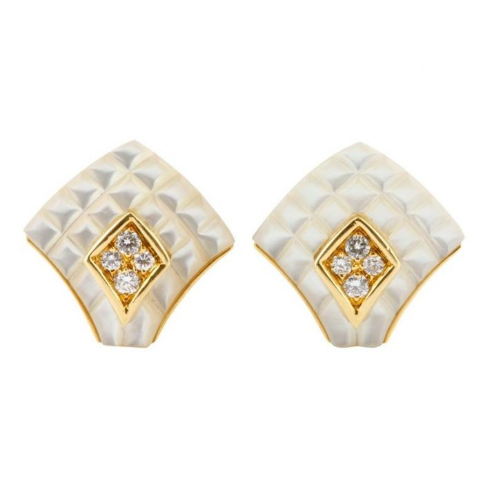 Mauboussin Mother of Pearl and Diamond Studs