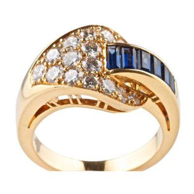 Oscar Heyman Brothers Sapphire Diamond Ring