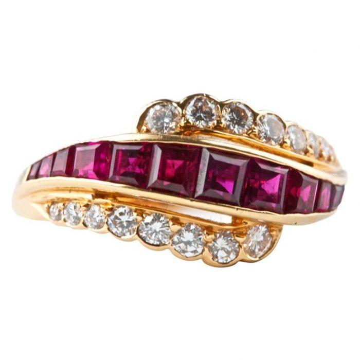 Oscar Heyman Brothers Ruby Diamond Ring