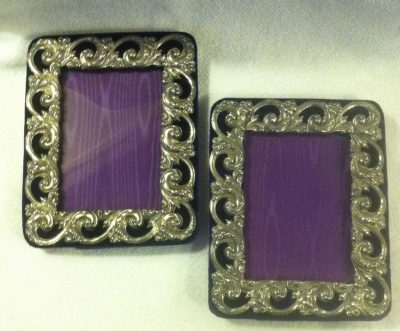 Sterling Silver Picture/Photograph Frame with Velvet Easel Back
