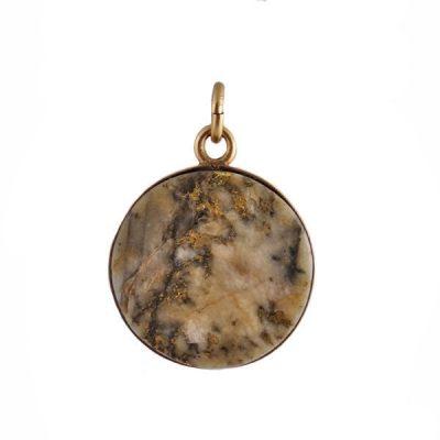 Victorian 14K Gold and Gold Quartz Charm or Pendant