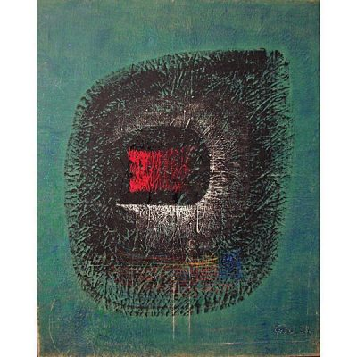 """Peter Foldes """" Abstract """" Oil On Canvas 1958 Hungarian"""