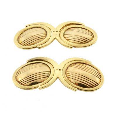 Art Deco 14K Gold Double Swivel Cufflinks
