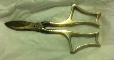 Sterling Silver Solid Handled Grape Shears