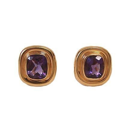 Tiffany Co 18k Gold Amethyst Paloma Pico Earrings