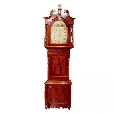 English Mahogany Tall Case Clock Circa 1830