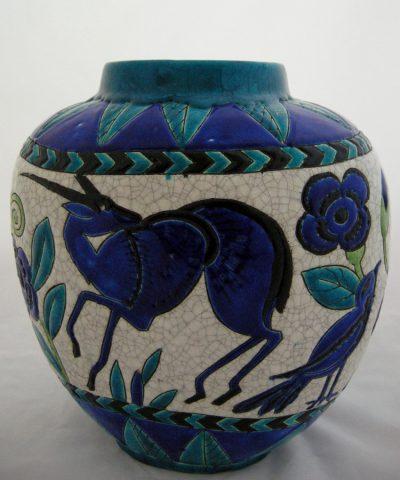 Boch Freres Keramis Vase for La Maitrise