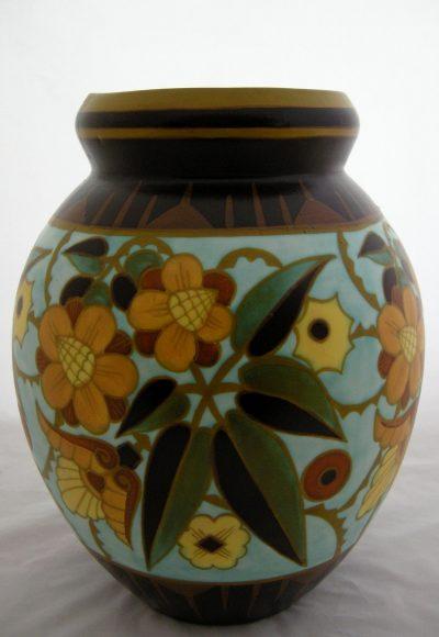 """Boch Freres Keramis 13.75"""" Vase"""