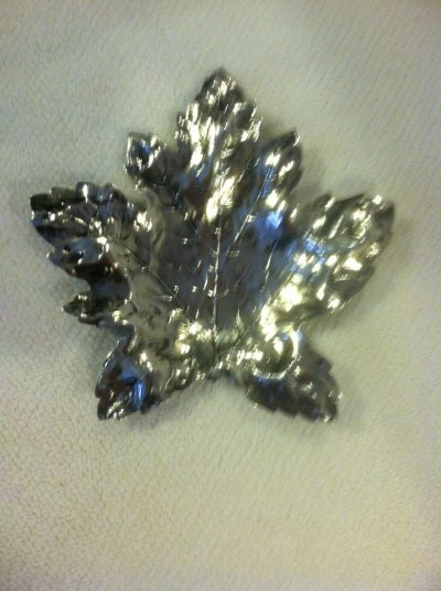 """Sterling Silver """"Maple Leaf"""" Mint Dish by Blackington"""