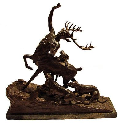 """Carl Kauba Austrian Bronze """" Actaeon """" Circa 1900"""