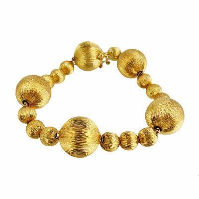 Tiffany & Co. 18K Gold Vintage Ball Bead Bracelet