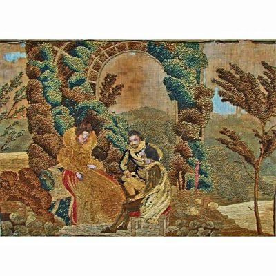 Nineteenth Century English Silk Pictorial Needlework