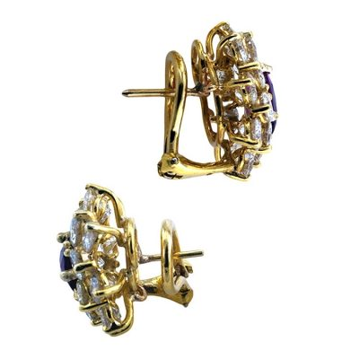 Vintage Ruby & Diamond Earrings