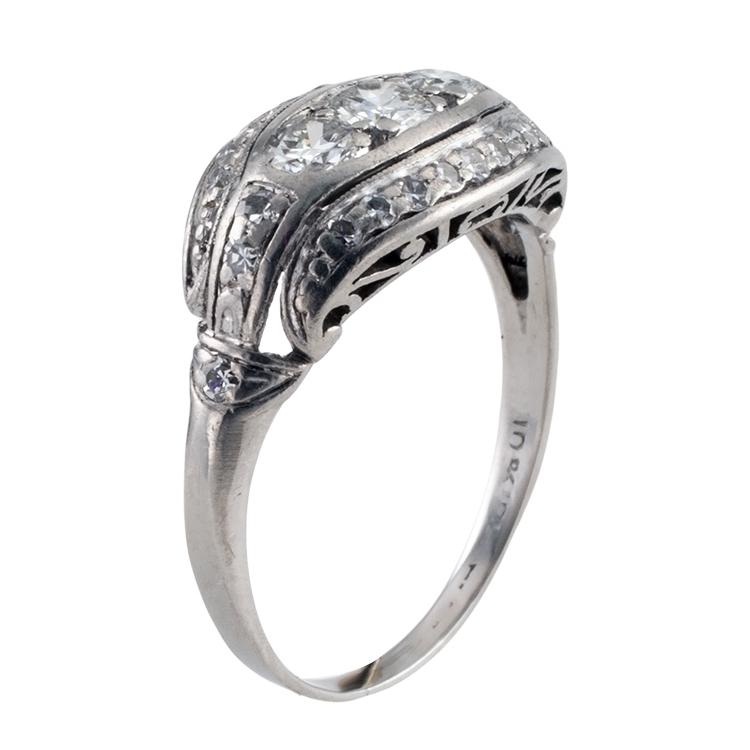 Three-Stone Art Deco Ring
