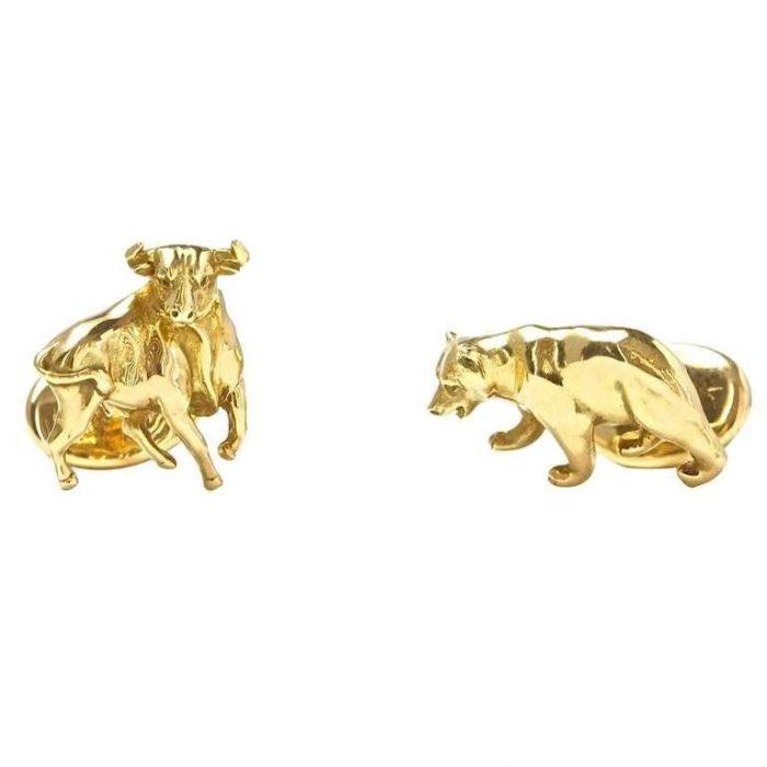 Tiffany Bull and Bear Cufflinks